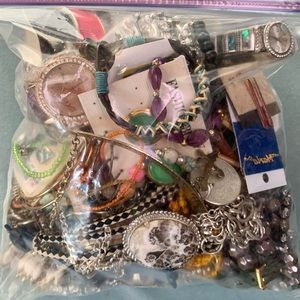 Overstuffed 1gl Bag Old and  New Fashion Jewelry Variety Lot